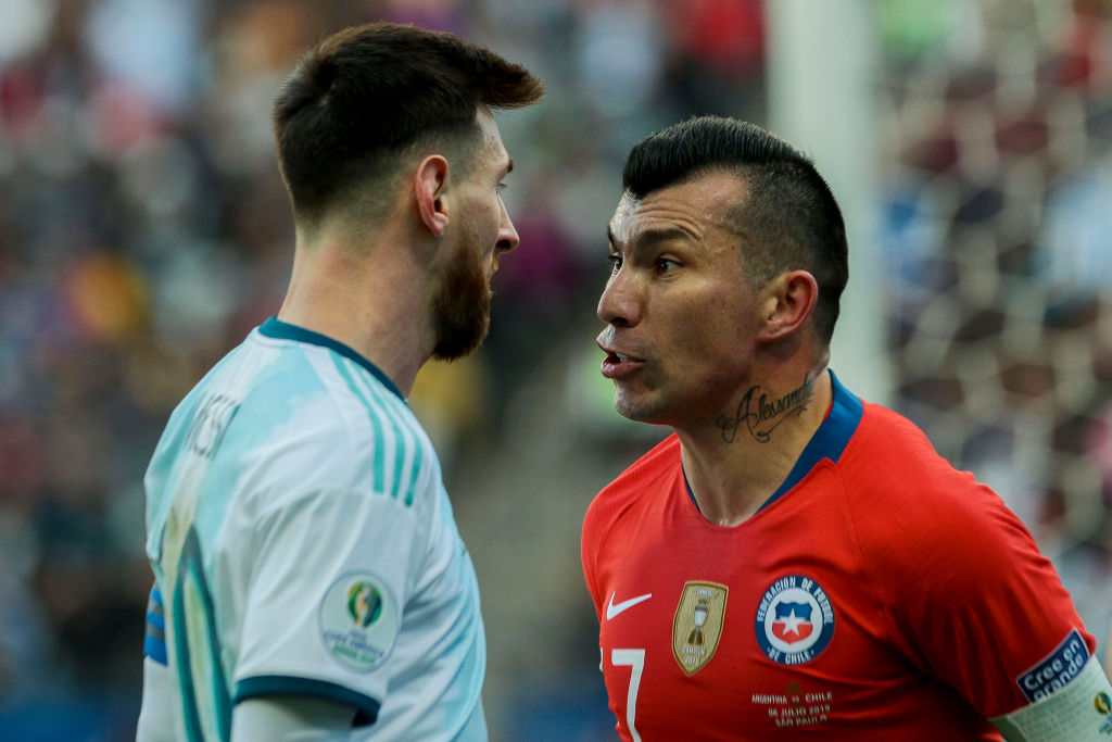 West Ham Target Gary Medel Shown Red Card In Copa America After Altercation With Lionel Messi Hammers News