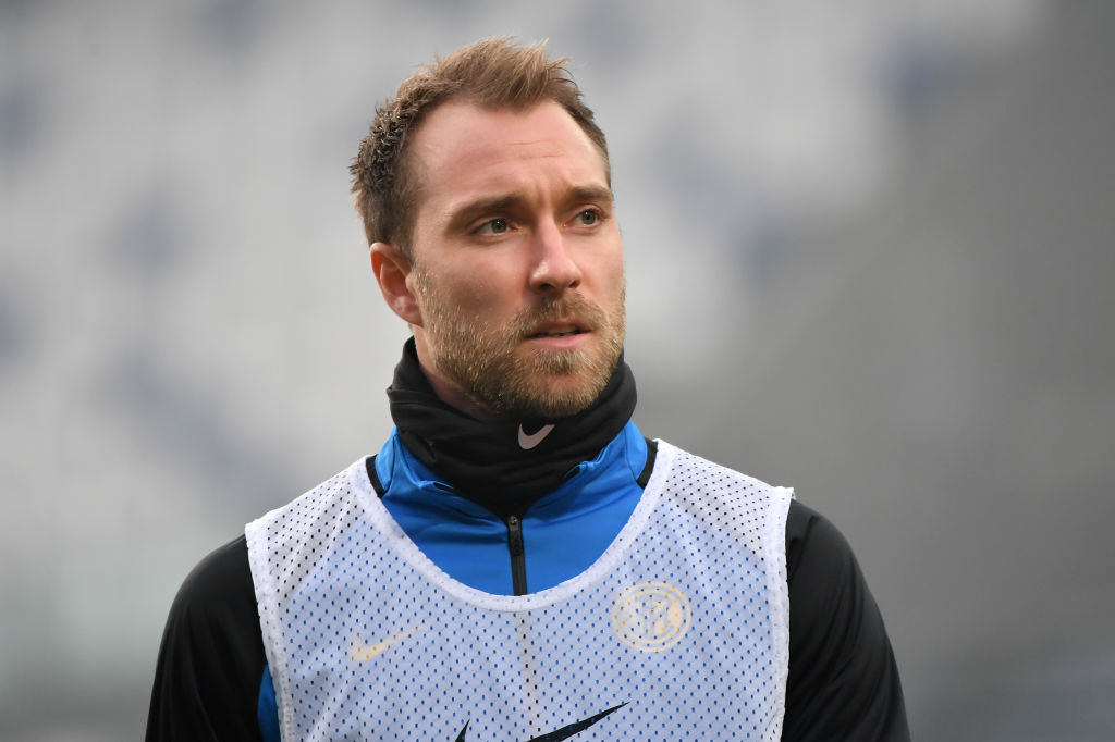 Christian Eriksen of FC Internazionale warms up during the