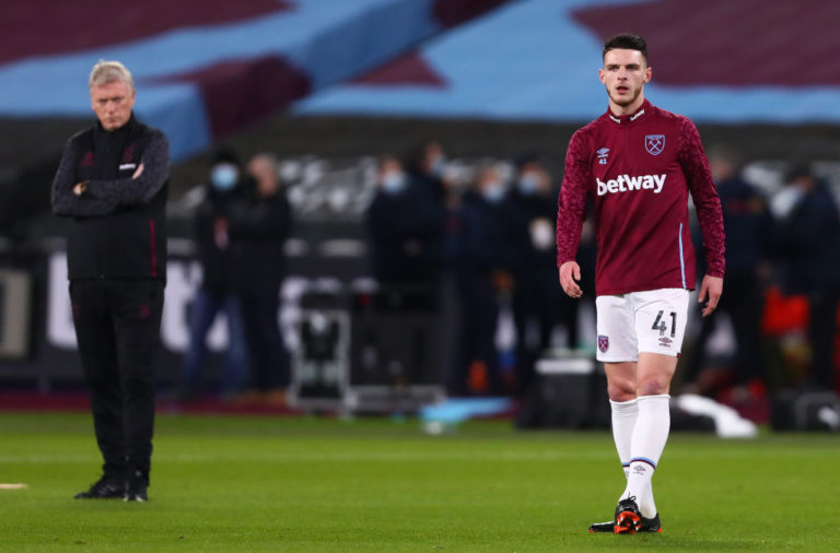 Declan Rice of West Ham United and Manager of West Ham
