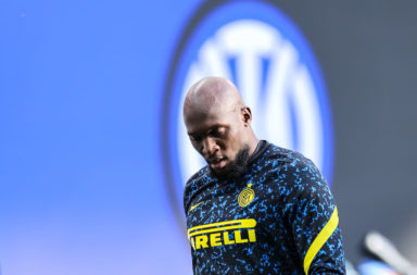 Romelu Lukaku of FC Internazionale warms up during the Serie