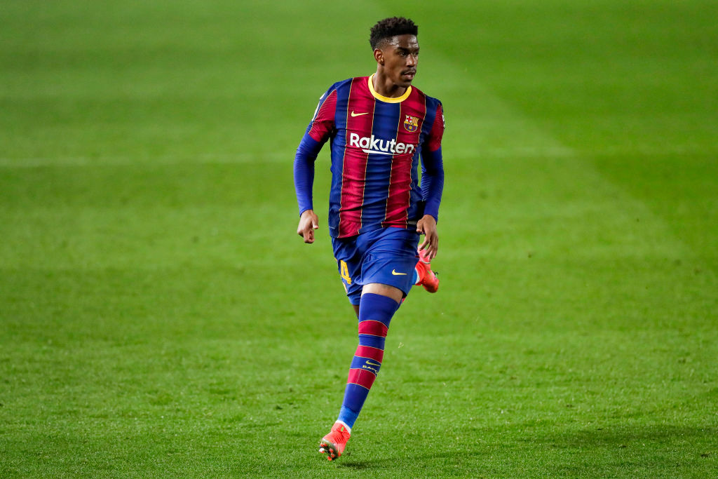 West Ham target Firpo in action for Barcelona