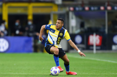 Alexis Sanchez of Fc Internazionale  in action during the