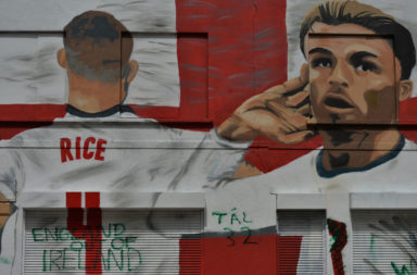 Mural Of Grealish And Rice Vandalised After Appearing In Dublin