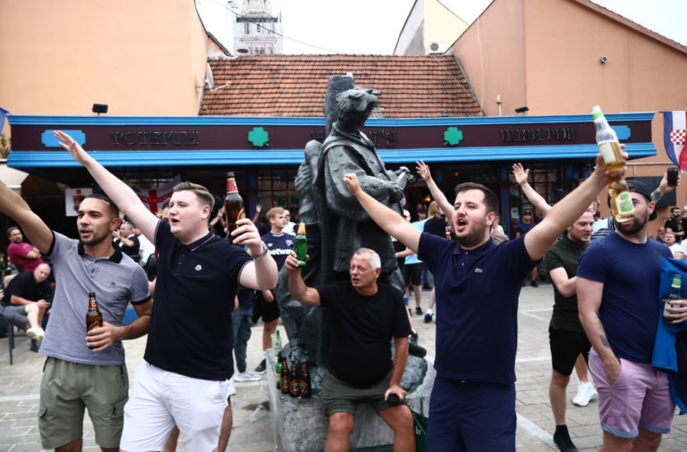 West Ham United Fans Before The Match Against Dinamo Zagreb